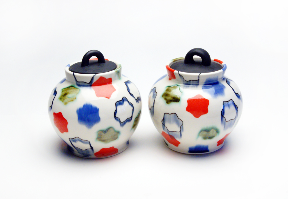 Two Jars, In the style of Kenzan, Porcelain, 2016